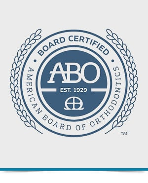 ABO Seal Large at Orthodontics Specialist PC in Brooklyn Staten Island NY and Metuchen NJ